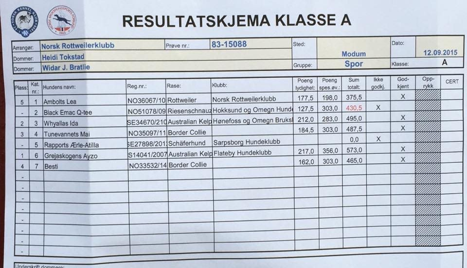 resultater a